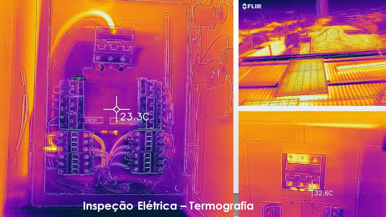 Inspeção elétrica termografia